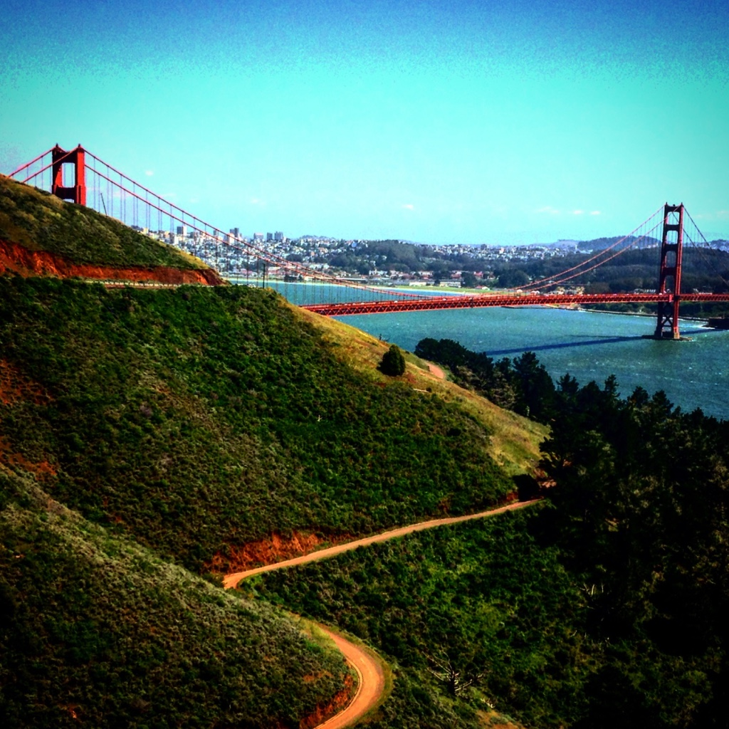 The Golden Gate bridge where I live in San Francisco